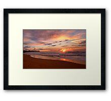 Reflections of Morn - Warriewood Beach, Sydney - The HDR Experience Framed Print