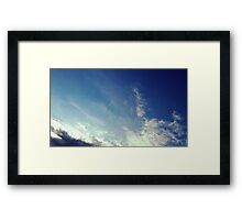 Cloudy Contrail Framed Print