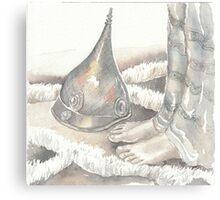 feet and helmet Canvas Print