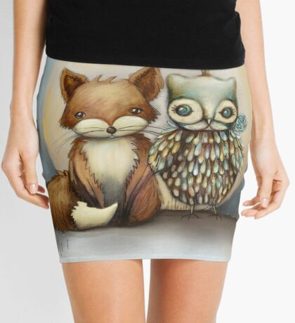 fox and owl Mini Skirt