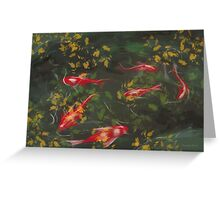 Autumn Koi Greeting Card