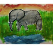Elephant, watercolor Photographic Print