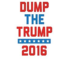 Dump Trump Photographic Print
