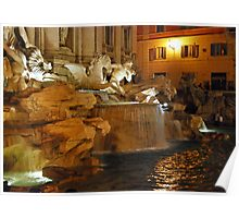 Trevi by Night - Rome Poster