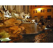 Trevi by Night - Rome Photographic Print