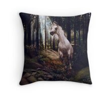 Fleeing Into The Forest Throw Pillow