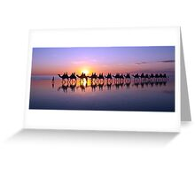 Iconic Camels on Cable Beach Greeting Card