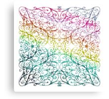 Drawing Day Inky Spirals V2 (Rainbow) Canvas Print