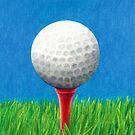 Golf Ball and Tee by Janice Dunbar
