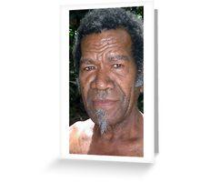 A Senior Citizen of the Island of Wala, Vanuatu. Greeting Card