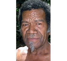 A Senior Citizen of the Island of Wala, Vanuatu. Photographic Print