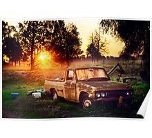Australian ute, adored by the sun Poster