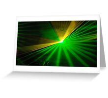 Spectacular Laser Light Show. Greeting Card