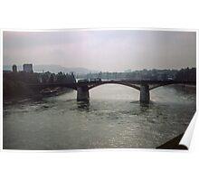 Bridge on Rhine Basel Switzerland 19840629 0006m  Poster