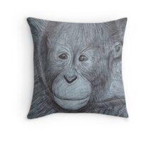 Aww, Monkey! Throw Pillow