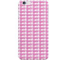 Karate Background Text Pink iPhone Case/Skin