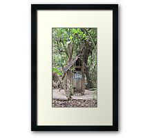 Staff Only toilet. Framed Print