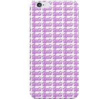 Karate Background Text Purple  iPhone Case/Skin