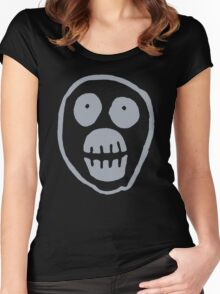 The Mighty Boosh – Big Mask (Grey) Women's Fitted Scoop T-Shirt