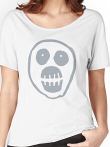 The Mighty Boosh – Big Mask (Grey) Women's Relaxed Fit T-Shirt