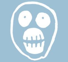 The Mighty Boosh – Big Mask (White) Kids Tee