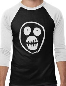 The Mighty Boosh – Big Mask (White) Men's Baseball ¾ T-Shirt