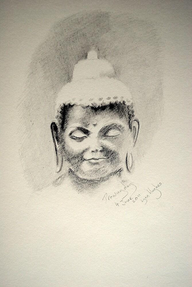 A Buddha for Drawing day  by Lynn Hughes