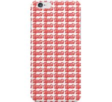 Karate Background Text Red  iPhone Case/Skin