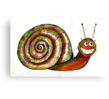 Mr. Snail Illustration Canvas Print