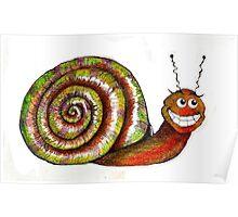 Mr. Snail Illustration Poster