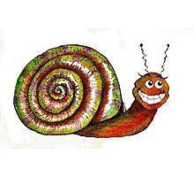 Mr. Snail Illustration Photographic Print