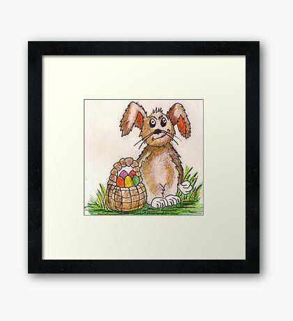 Rabbit Illustration Framed Print