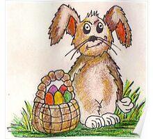 Rabbit Illustration Poster