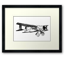 yellow plane with red nose Framed Print