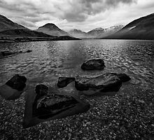Wastwater 04 - Classic View of Wasdale, Cumbria by ExclusivelyMono