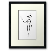 The Lady in the Big Hat #1 Framed Print