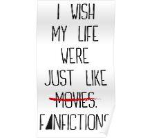 Fanfictions [Black Font] Poster