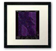 USGS Topo Map Oregon Location Butte 280559 1999 24000 Inverted Framed Print