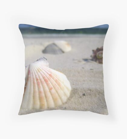 Sorted Shells Throw Pillow