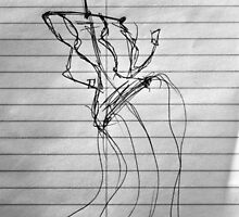 Random Sketch 04...Drawing Day by C Rodriguez