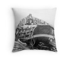Coble at South Gare Throw Pillow