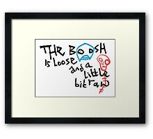 The Mighty Boosh – The Boosh Is Loose Framed Print