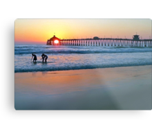 Touched By the Sea Metal Print