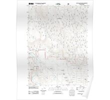 USGS Topo Map Oregon Buttes of the Gods 20110719 TM Poster