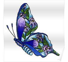 Iris Butterfly Illustration Poster