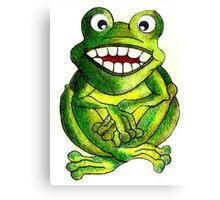 Frog Illustration Canvas Print