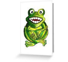 Frog Illustration Greeting Card