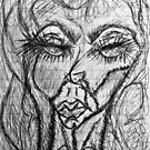 Self Portait 08...Drawing Day by Christina Rodriguez