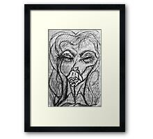 Self Portait 08...Drawing Day Framed Print