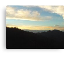 Cloud Cover Over The Mountains Canvas Print